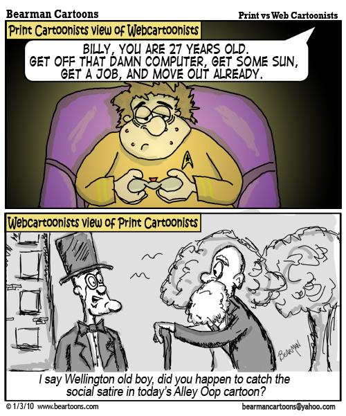 1 3 10 Bearman Cartoon Print Cartoonist vs Webcomics