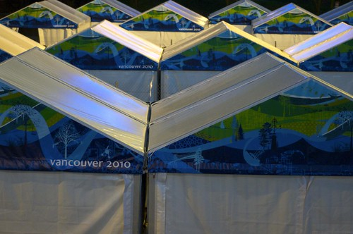 BC Place staging tents