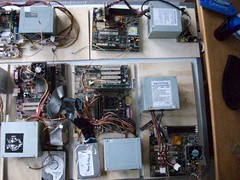Cluster armado con hardware viejo y donado - Cluster armed with old and donated hardware