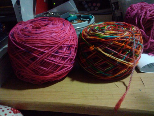 Yarns I've dyed recently