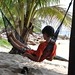 relaxing after lunch on Cham Island