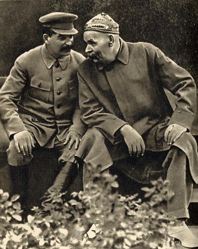 Stalin e Gorkij nel 1931