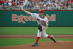 Stephen Strasburg - First Major League Pitch