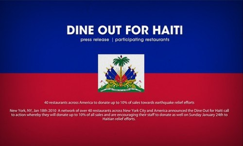 Dine Out For Haiti