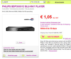 pixmania blu ray player €1.05