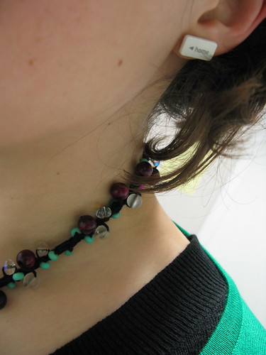 'home' earrings