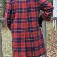 Orange Plaid Coat: Marfy 1877 Forties Adventure