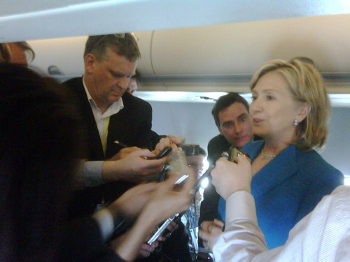 Secretary Clinton Takes Questions on the Plane by U.S. Department of State.