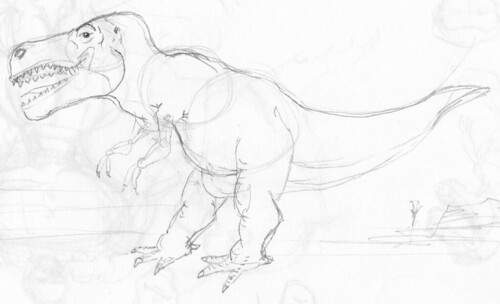 Sketching a T-Rex from memory