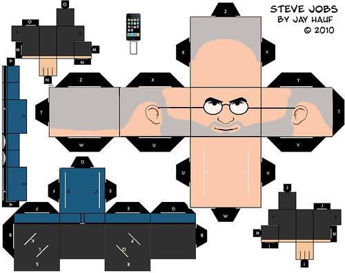 Steve Jobs Cut Out  by jayhauf.