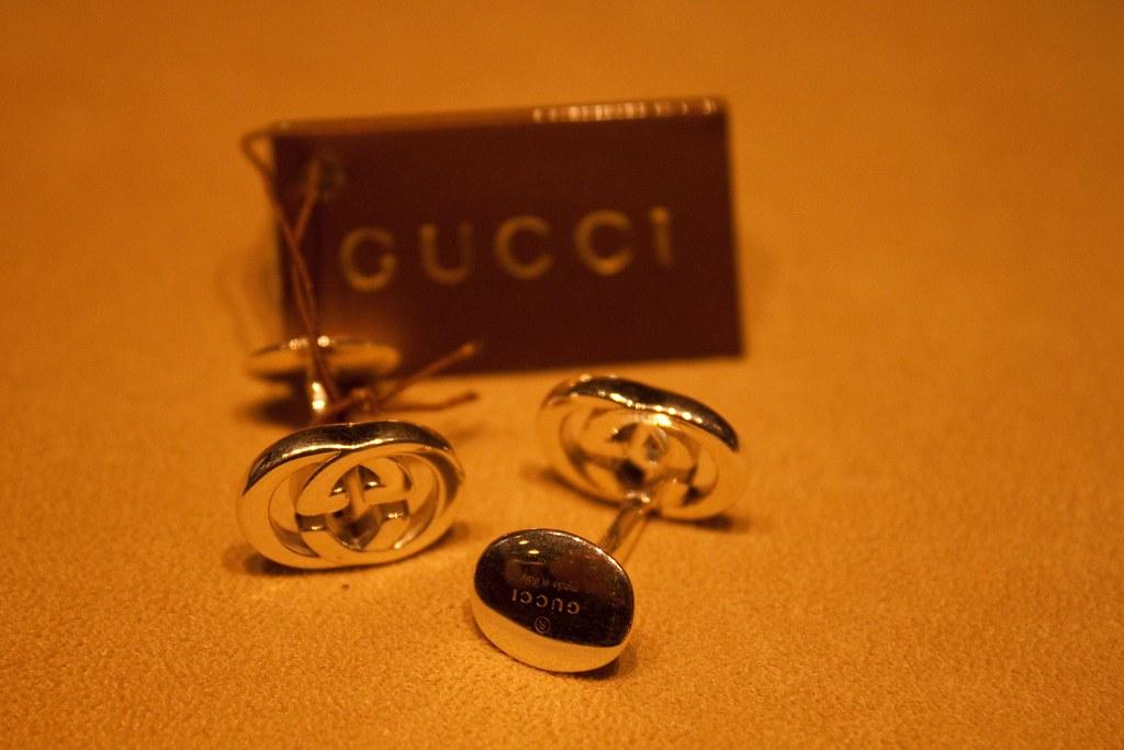 Gucci Jewelry Silver Cufflinks