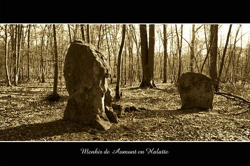 Menhirs - Aumont-en-Halatte