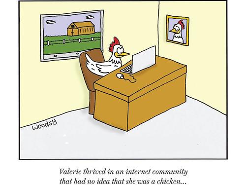 Valeria brylowała w internetowej społeczności w której nikt nie miał pojęcia że tak naprawdę jest kurczakiem!