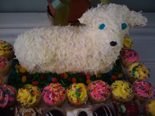 BFF's Mom made this adorable lamb cake for Easter!