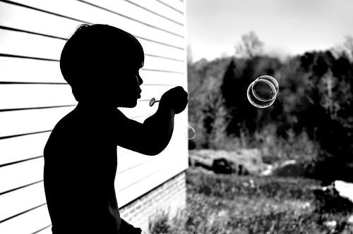 bubbles black and white