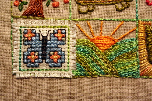 39 Squares: Butterly and Sunrise on Mountains