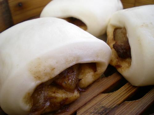 Farley dim sum - braised pork belly in mantao