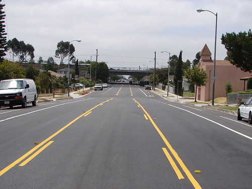 Bike Lane on San Pedro looking South at 115th