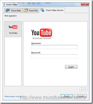Windows Live Writer ile Video Yayınlamak