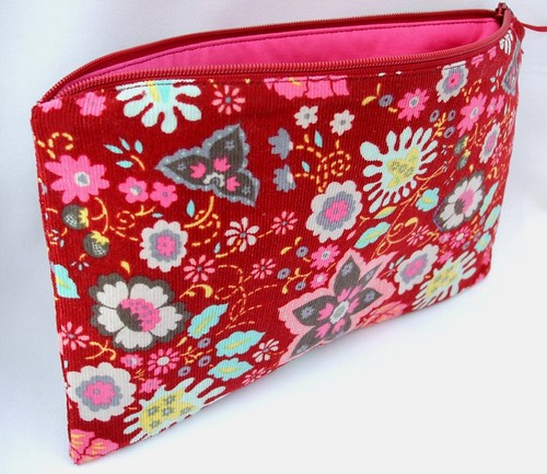 Flowery Red Pouch
