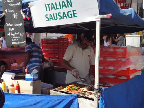 Norton Street Italian Festa: Italian sausage