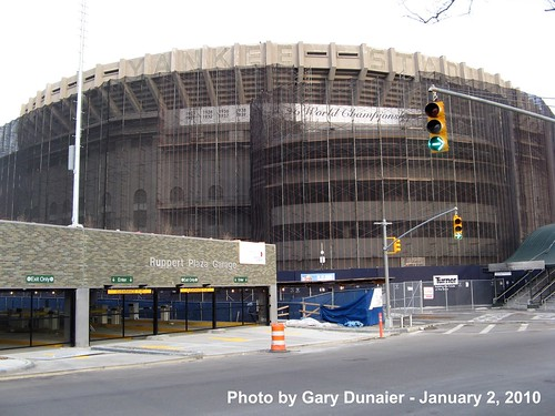 Yankee Stadium Demolition, 01/02/10: view from 157th Street near 153rd Street (IMG_2763) by Gary Dunaier.
