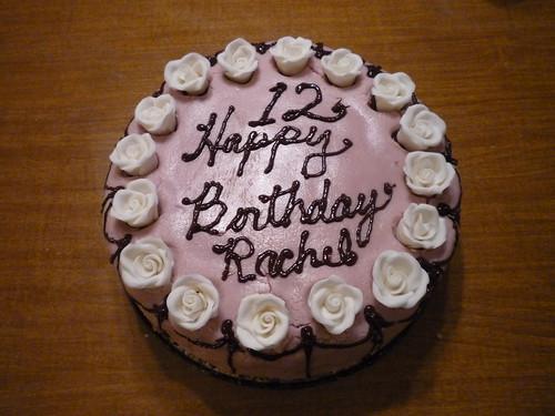 Rachel's b-day cake