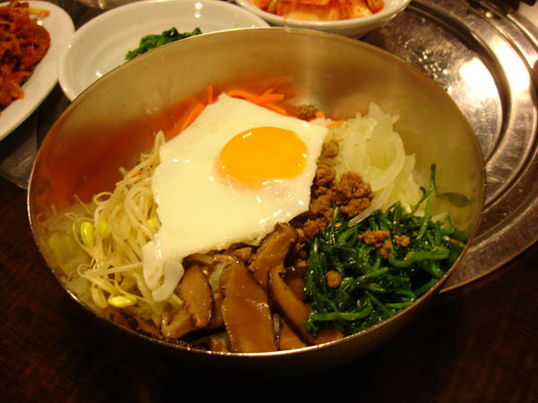 Doorae - veggies/minced beef/steamed rice/fried egg