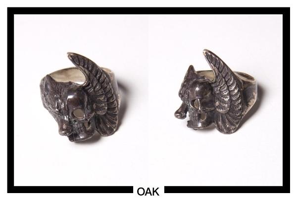 silver wolf-skull ring