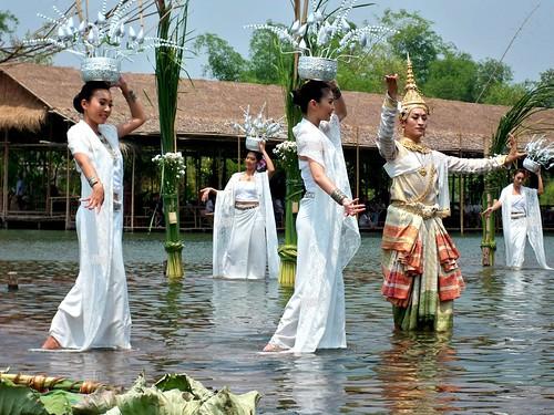 Thailand KlongSaBua Floating mkt - ตลาดน้าคลองสระบัว