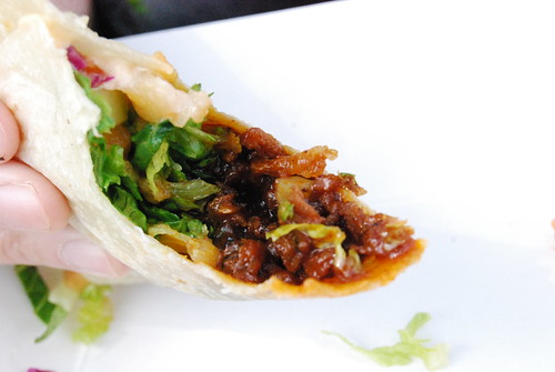 Spicy pork taco