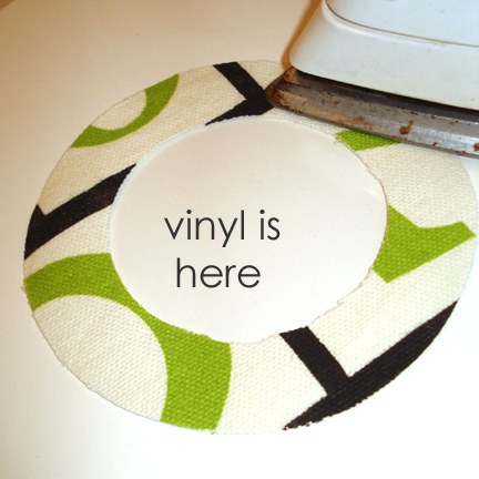 pressing fabric to vinyl copy