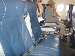 US Airways New Leather Seats