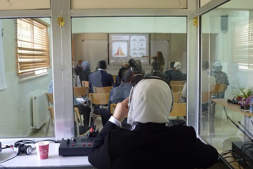 Translator view of workshop