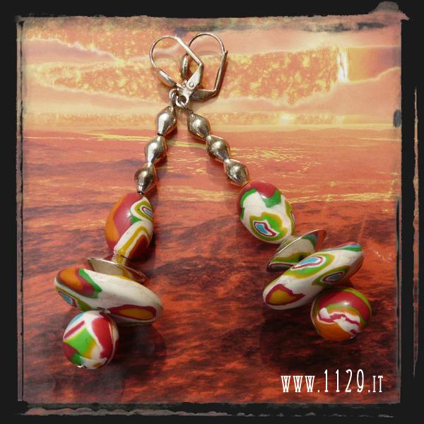 LEROND orecchini multicolore multicolour earrings 1129