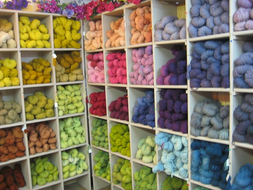 Lots of yarn in Taos