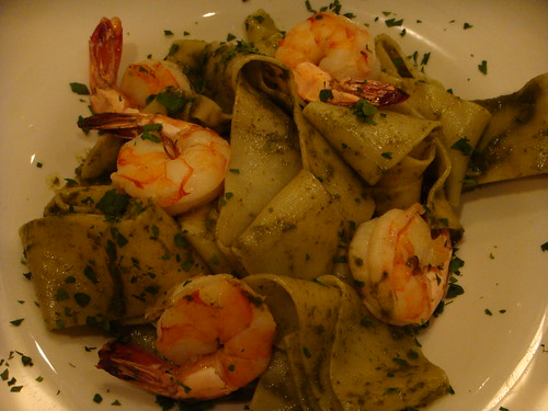 Magna Ristorante - Pesto Pasta with Pesto and Shrimp