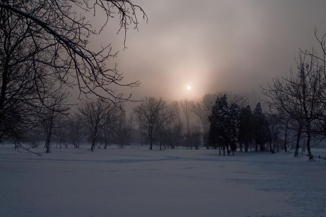Small white sun