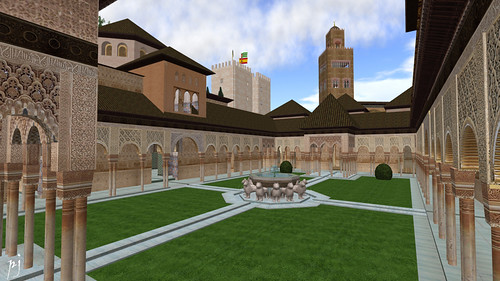 Al Andalus Alhambra Palace Courtyard: photograph by PJ Trenton