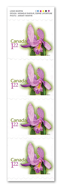 Rose Pogonia Stamp