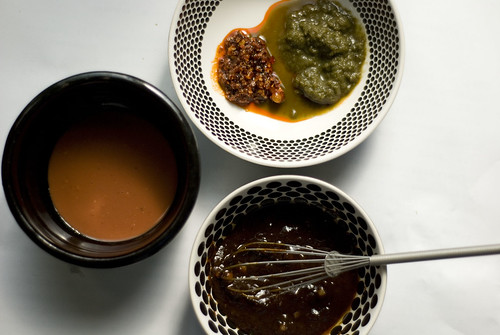 Sauces for jianbing 煎饼 by jennikokodesu, on Flickr