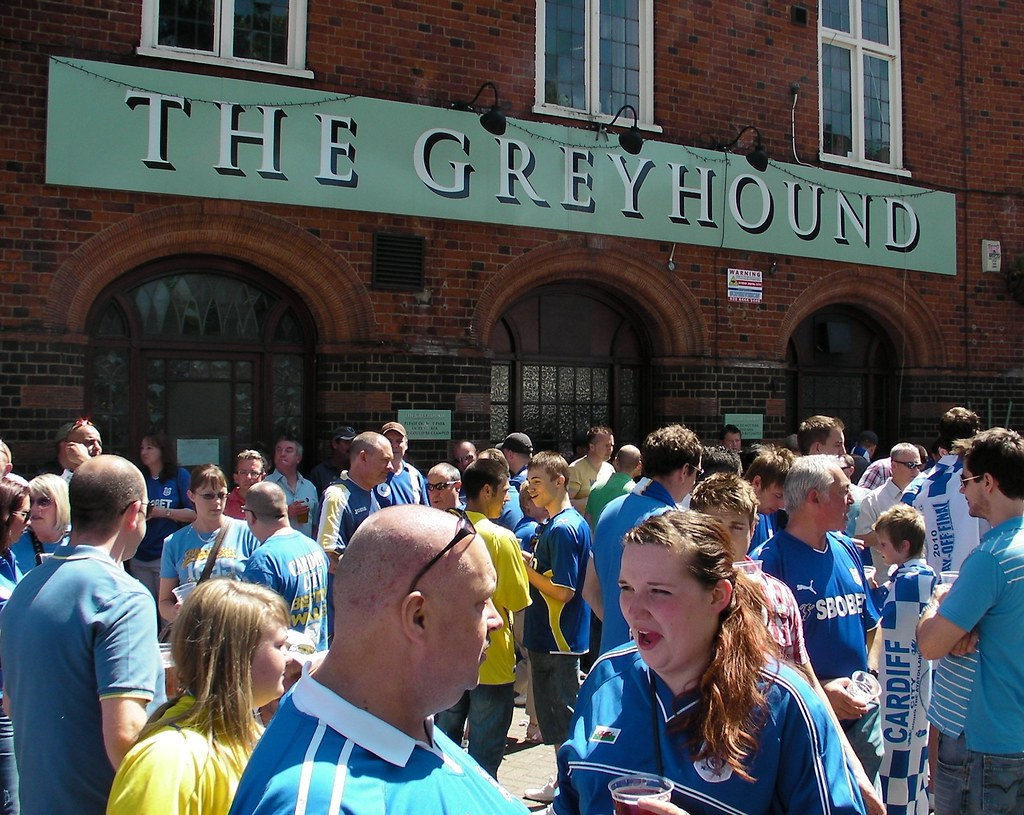 Wembley-Blackpool v Cardiff-Pre-match at The Greyhound Pub