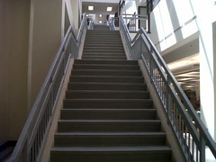 UCO Library stairs