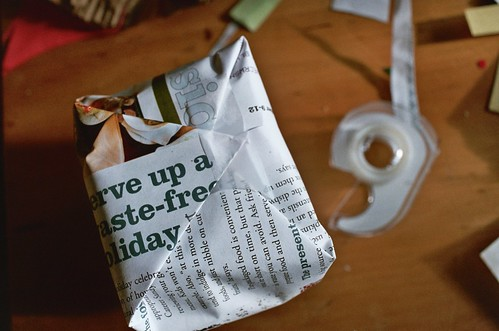 wrapping a gift in just the right thing