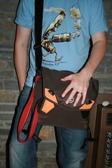 $6M Crumpler Bag - with Redbubble Tshirt