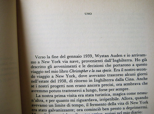 Christopher Isherwood, Il mio guru, Garzanti 1989, p. 9 (part.)