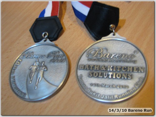 100314 Bareno Run Finisher Medal