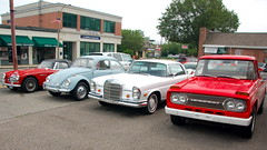 Old cars at Copley Motorcars, Needham MA: 1964...