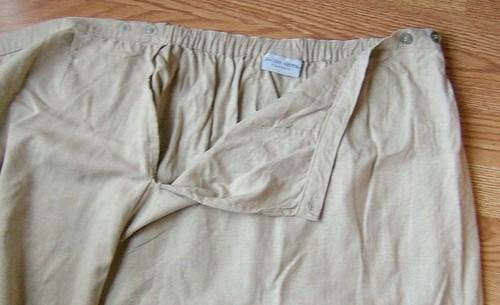 original linen skirt closeup