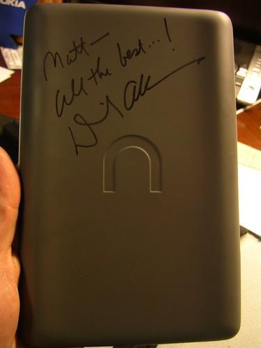 David Allen signed nook